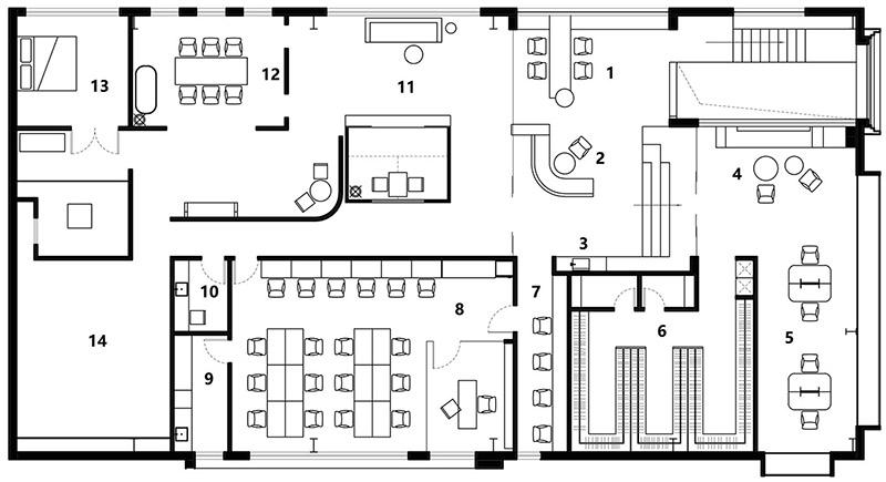 办公室动线设计图